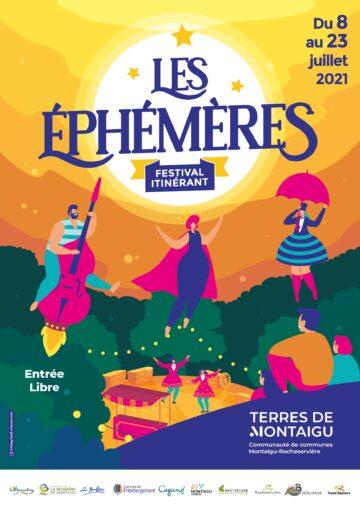Affiche du festival les ephemeres 2021
