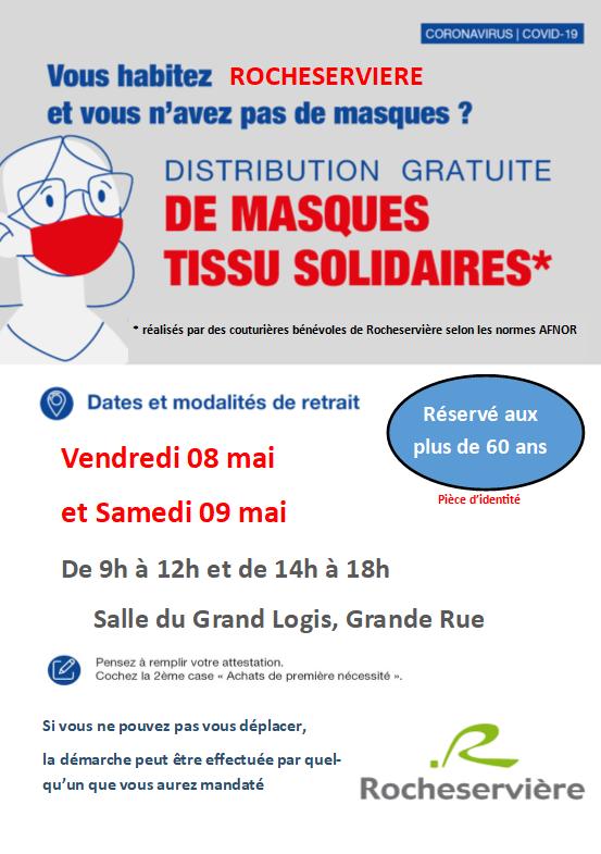 Distribution des masques au plus de 60 ans - 08 et 09 Mai